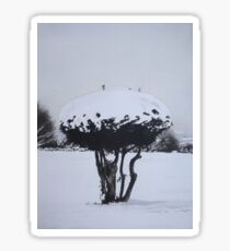Christmas snow landscape scenic original art  Sticker