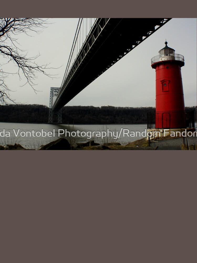 Little Red Lighthouse & George Washington Bridge by amandavontobel