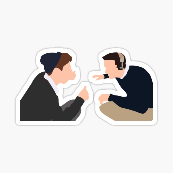 Steven Meeks and Gerard Pitts in Dead Poets Society Sticker