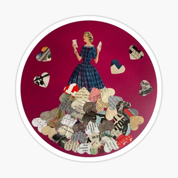 Glad Rags - original mixed  media collage Sticker