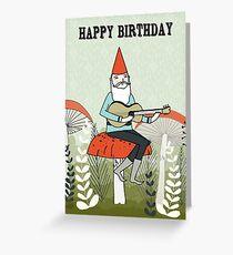 Happy Birthday - Gnome Plays Guitar Greeting Card