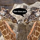 Nasty Giraffes Insult Each Other by TSFPhotoCartoon
