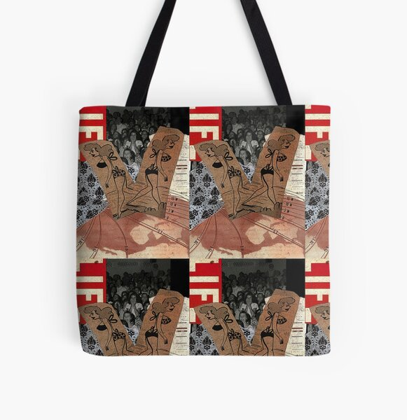 Every Which Way - original collage art All Over Print Tote Bag