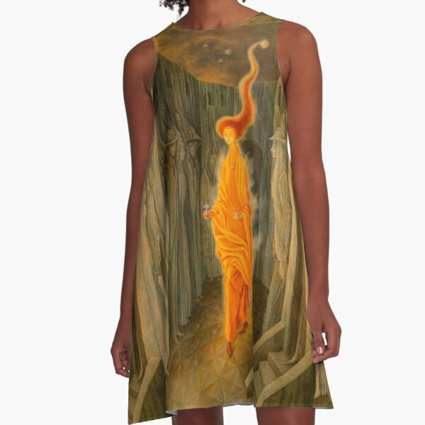 The Call, by Remedios Varo A-Line Dress