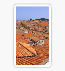 The Terracotta Roofs Of Dubrovnik Sticker