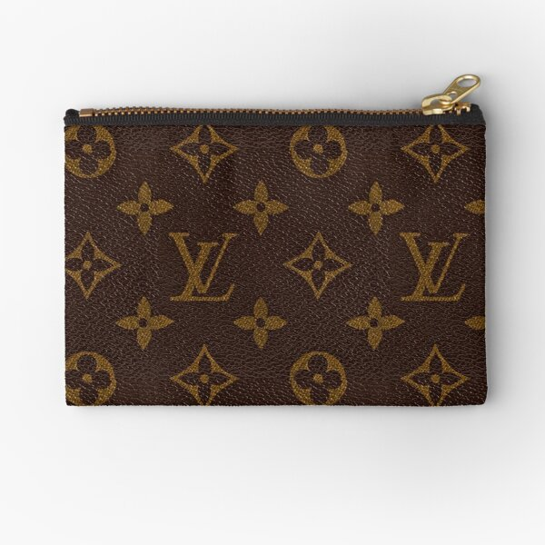 Luxury Brown Gold Louis V 2021 Pattern Monogram Original  Zipper Pouch