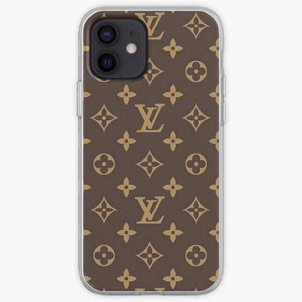 Luxury Brown Gold Louis V 2021 Pattern Monogram Original  iPhone Soft Case
