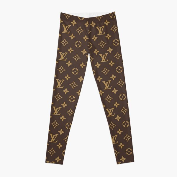Luxury Brown Gold Louis V 2021 Pattern Monogram Original  Leggings
