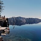 Swimmer at Crater Lake.  by Alex Preiss