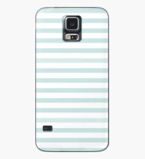 Nautical Stripe Light Blue and White Case/Skin for Samsung Galaxy