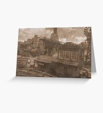 Gold Dust Saloon Greeting Card