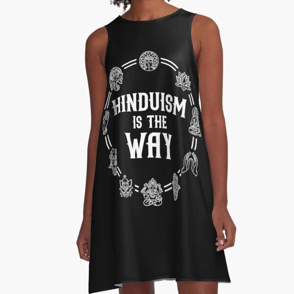 Hinduism Symbol Religion Spiritual A-Line Dress