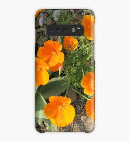 Färbe mich orange! California Poppies Hülle & Klebefolie für Samsung Galaxy