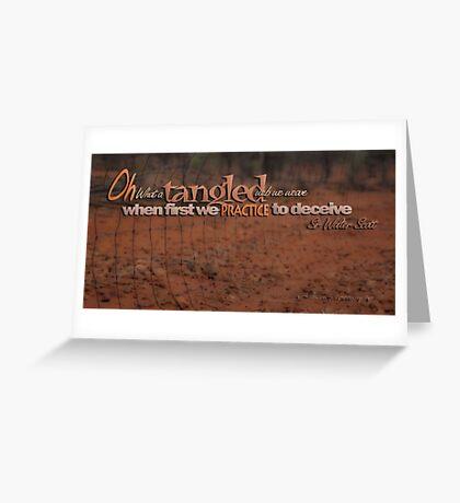 Tangled Webs 05 © Vicki Ferrari Greeting Card