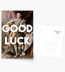 Postales Buena suerte King George III inspirado en Hamilton