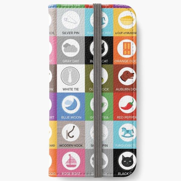 Color Vowel Tiles iPhone Wallet
