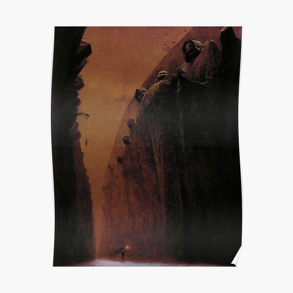 Untitled (Dark Pathway), by Zdzisław Beksiński  Poster