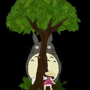 Totoro & Mei play Hide & Seek. by nooriginalnames