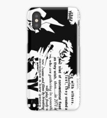 Spike Cowboy bebop White iPhone Case