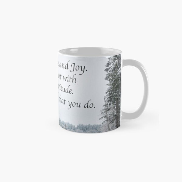 Seek His Peace: Snow Clearing In The Woods Classic Mug