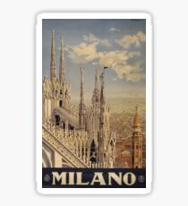 Milano' Vintage Poster (Reproduction) Sticker