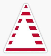 Stripes Delta Sticker