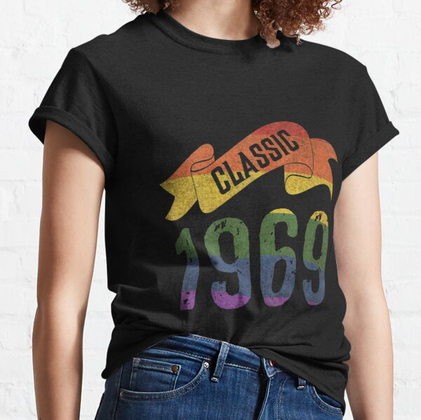 Classic 1969 Rainbow Colors birthday gift Classic T-Shirt