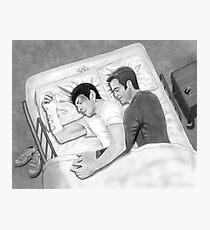 Kirk and Spock Sleeping Photographic Print