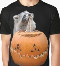 Raccoon JackOLantern Graphic T-Shirt
