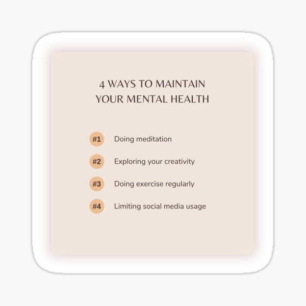 Maintain Your Mental Health Sticker
