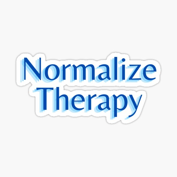Normalize Therapy Sticker