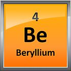 Beryllium Element Tile - Periodic Table by sciencenotes