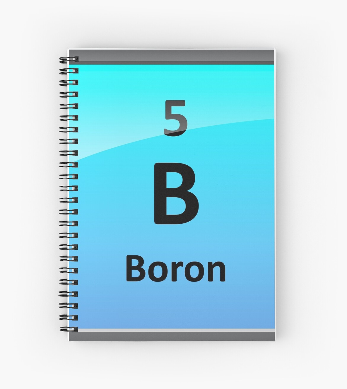 Boron Element Tile Periodic Table Spiral Notebook By Sciencenotes