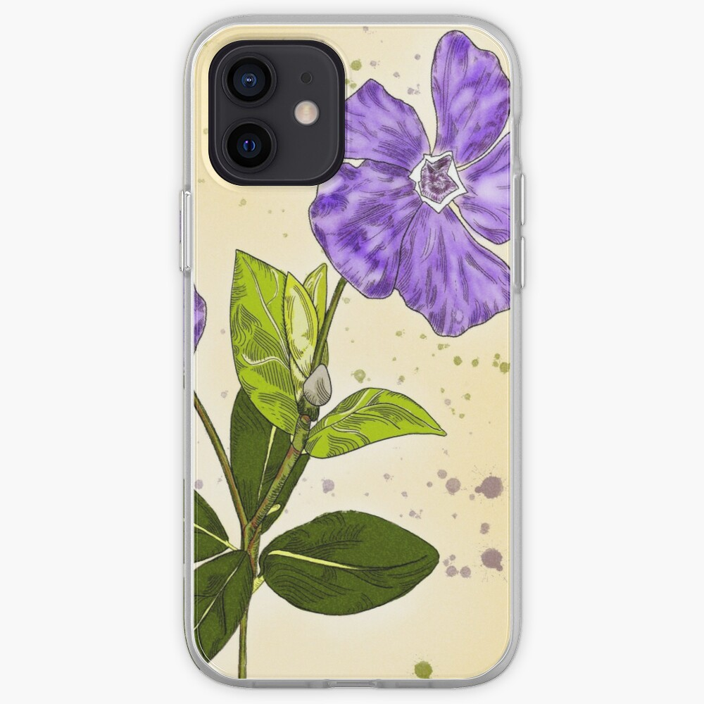 Circle Framed Purple Periwinkle Garden Delight iPhone Case & Cover