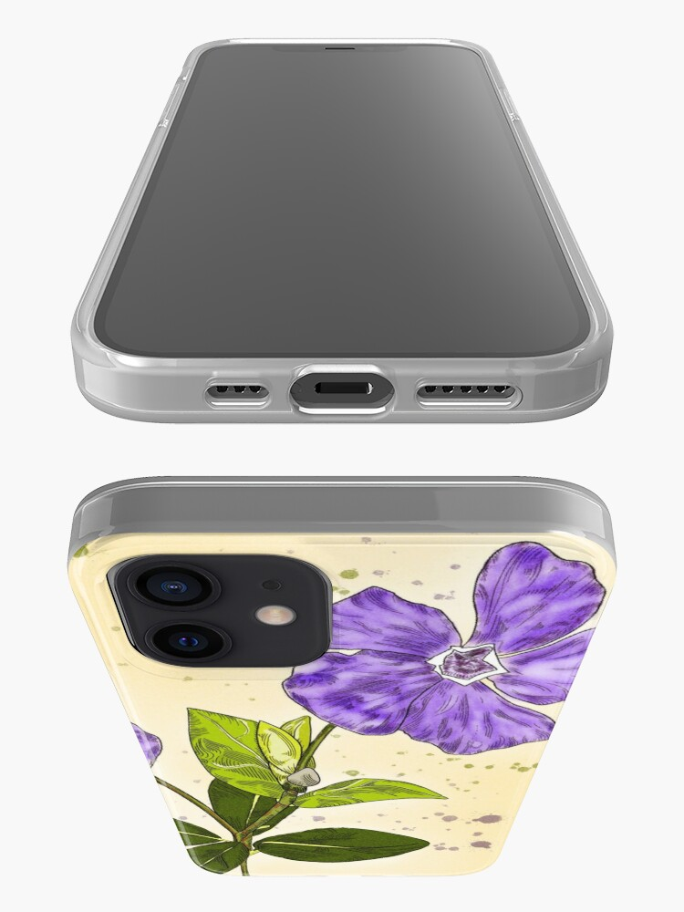 Alternate view of Circle Framed Purple Periwinkle Garden Delight iPhone Case & Cover