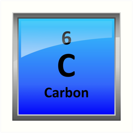 Carbon Element Tile Periodic Table Art Prints By Sciencenotes
