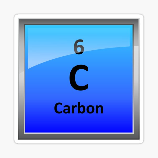 Carbon Element Tile - Periodic Table Sticker