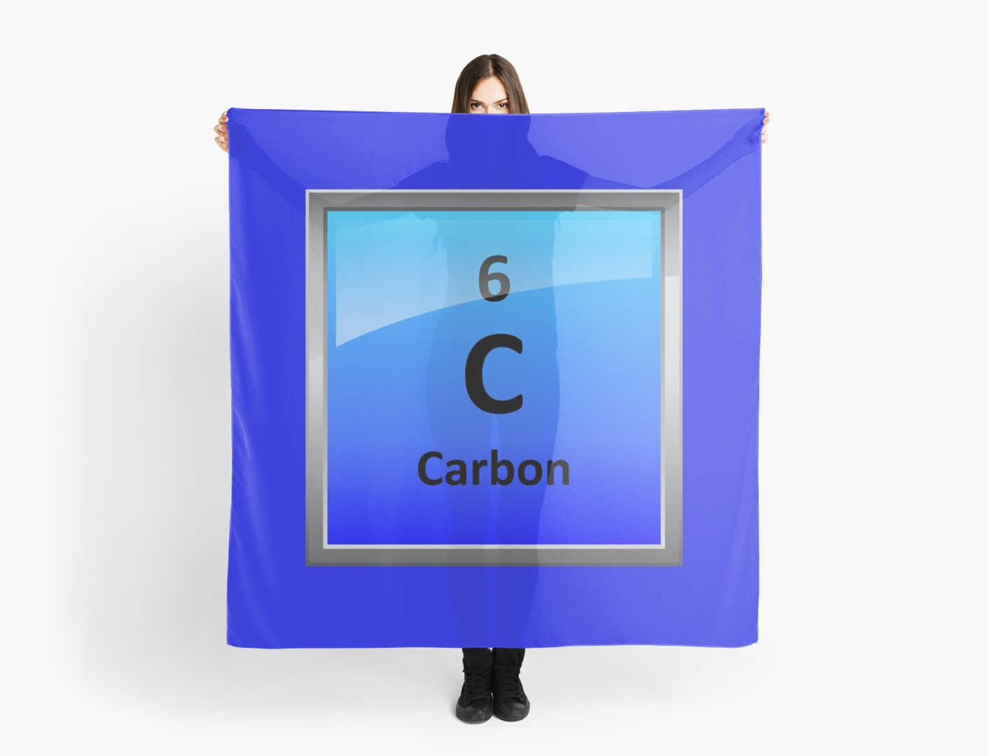Carbon element tile periodic table scarves by sciencenotes carbon element tile periodic table by sciencenotes buycottarizona