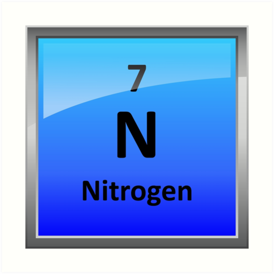 Nitrogen Element Tile Periodic Table Art Prints By Sciencenotes