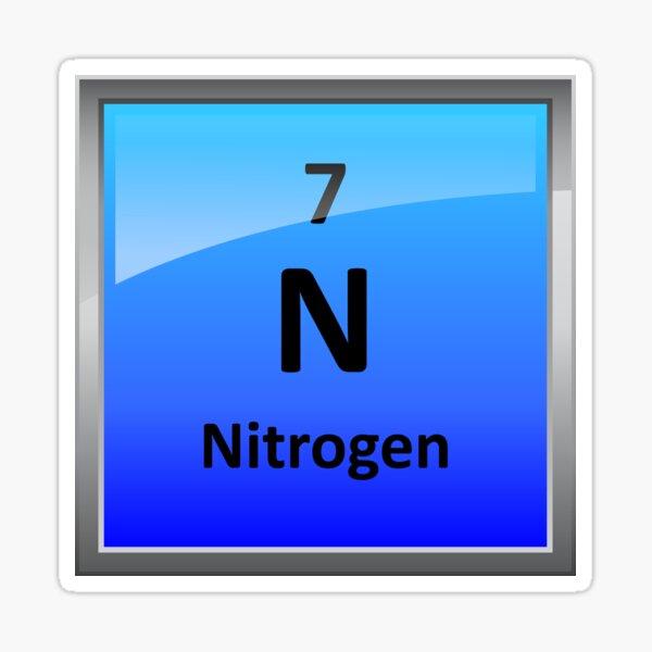 Nitrogen Element Tile - Periodic Table Sticker