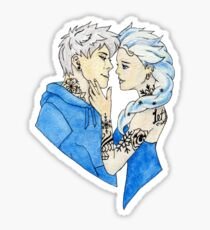 Tattooed Ice King and Queen Sticker