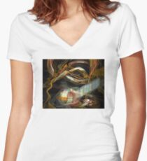 Spontaneous Combustion Women's Fitted V-Neck T-Shirt