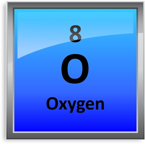 Oxygen element tile periodic table canvas prints by sciencenotes oxygen element tile periodic table urtaz Images
