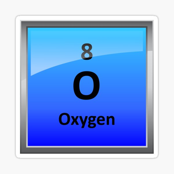 Oxygen Element Tile - Periodic Table Sticker