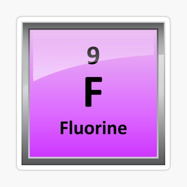 Fluorine Element Tile - Periodic Table Sticker