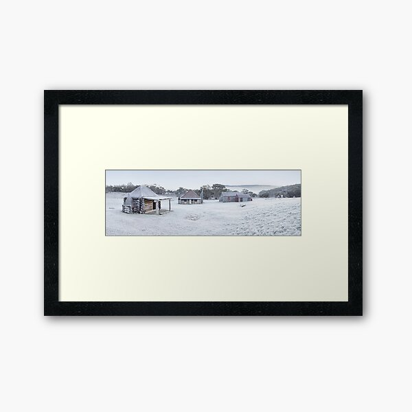 Frosty Coolamine Homestead, Kosciuszko National Park, New South Wales, Australia Framed Art Print