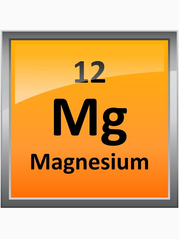 Camisetas entalladas de cuello redondo teja del elemento de teja del elemento de magnesio tabla peridica urtaz Images