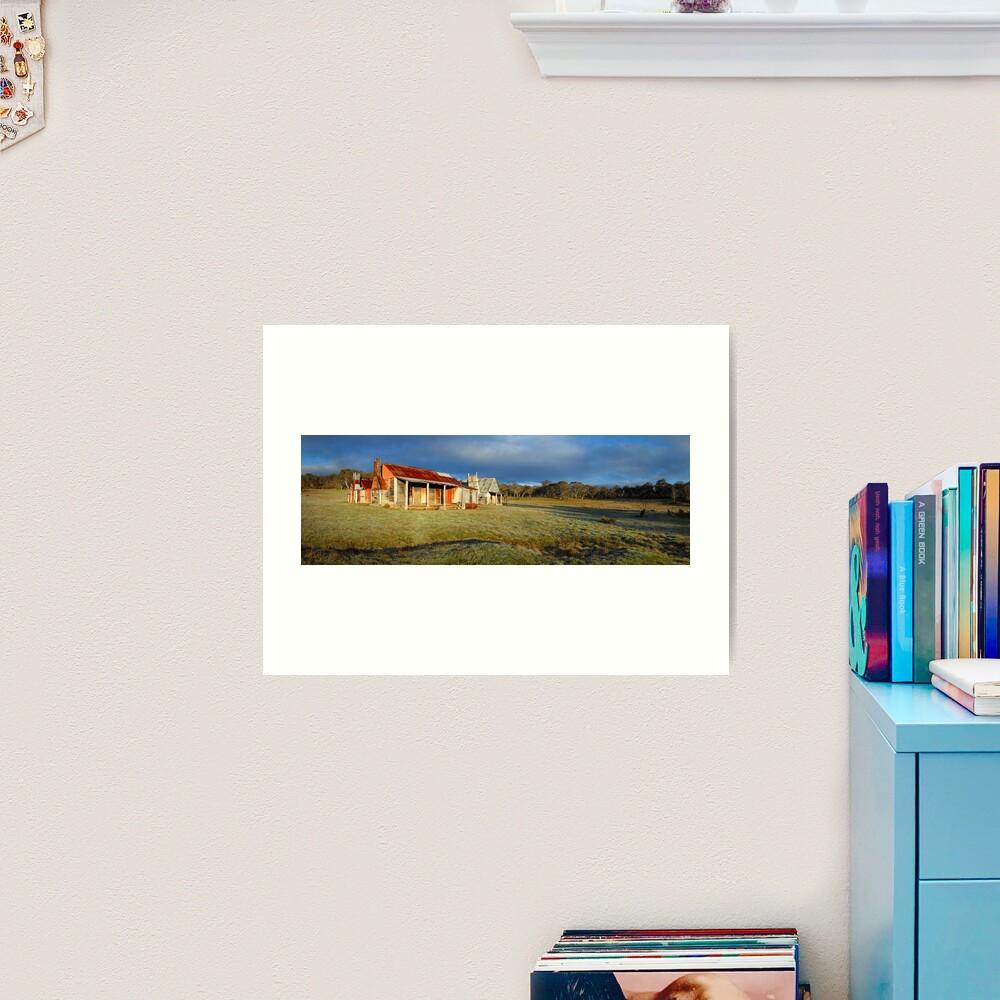 Morning Light finds Coolamine Homestead, Kosciuszko National Park, New South Wales, Australia Art Print