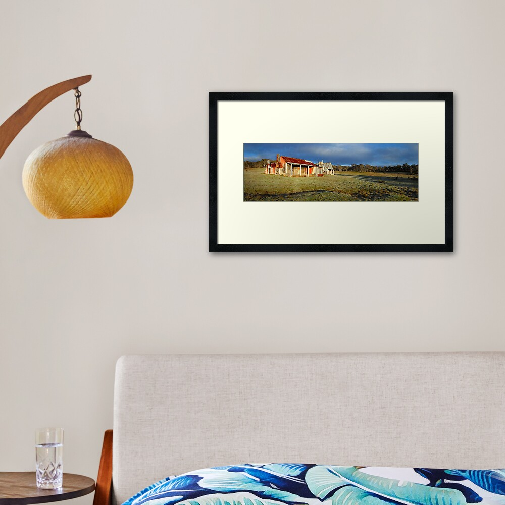 Morning Light finds Coolamine Homestead, Kosciuszko National Park, New South Wales, Australia Framed Art Print