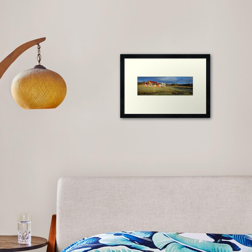 Morning Light finds Coolamine Homestead, Kosciuszko National Park, New South Wales, Australia Framed Art Print
